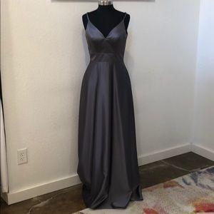 Dresses & Skirts - Dark grey satin gown